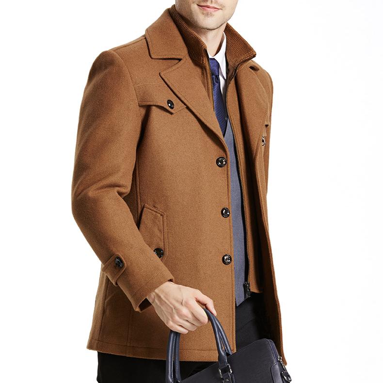 Áo khoác nam dáng mangto vải dạ cao cấp SC67