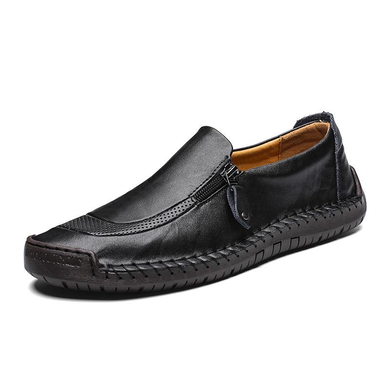 Giày lười thời trang nam da thật - Mã HQ007