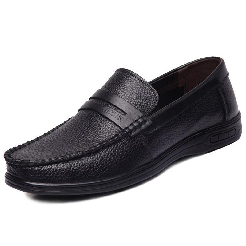 Giày lười nam trung niên da bò - Mã GL025