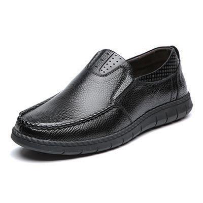 Giày lười nam trung niên da bò - Mã GL032