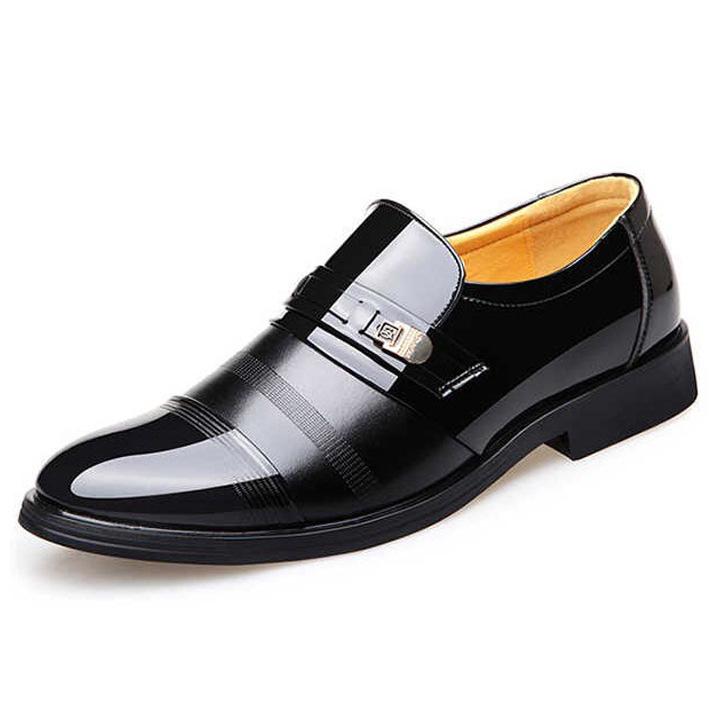Giày công sở nam trung niên, da thật phủ bóng - Mã CG005