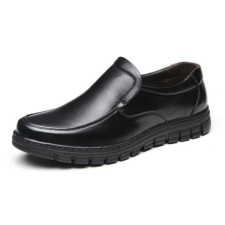 Giày lười nam trung niên da bò - Mã GL031