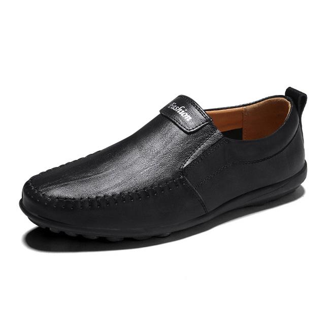 Giày lười thời trang nam da thật - Mã HQ005
