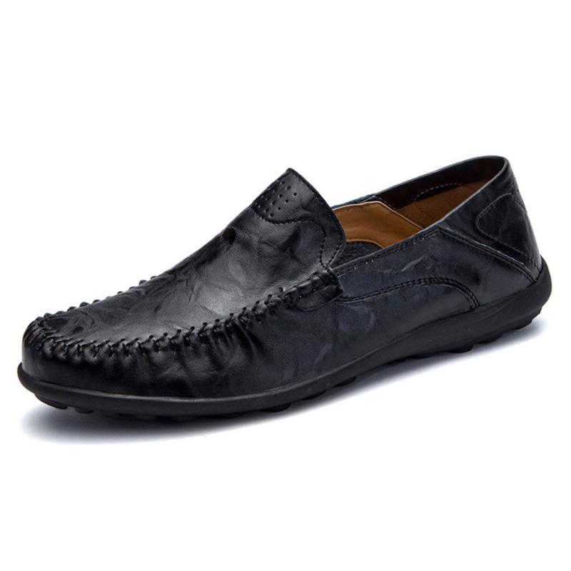 Giày lười thời trang nam da thật - Mã HQ006