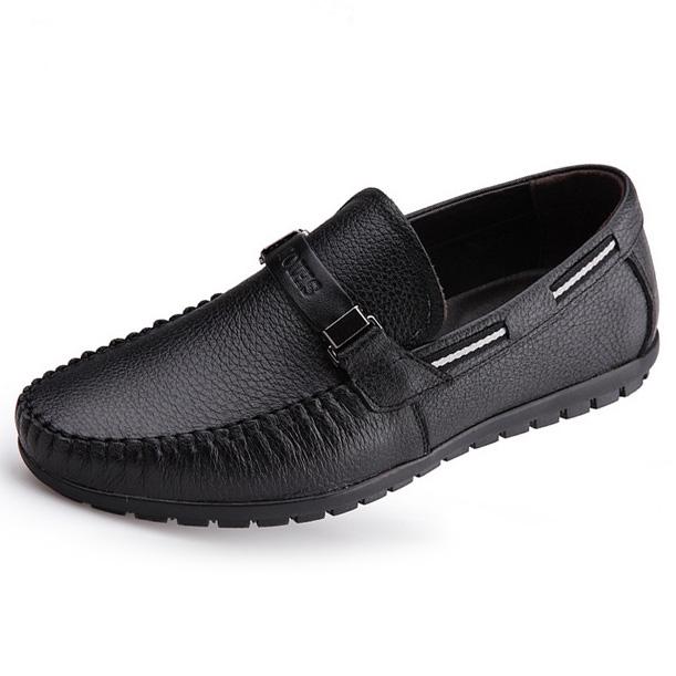 Giày lười nam trung niên da bò - Mã GL028