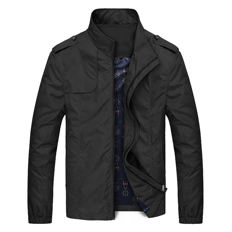 Áo khoác gió nam trung niên 2 lớp chống nhăn AG06 màu xanh đen