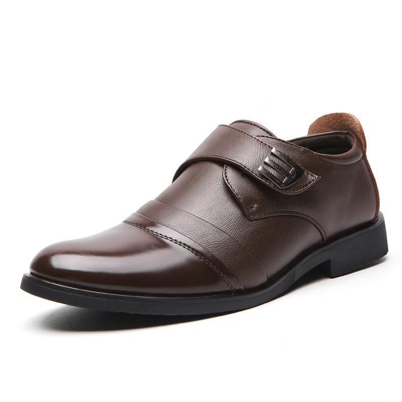 Giày da thời trang nam, dáng công sở KF001 - Màu nâu