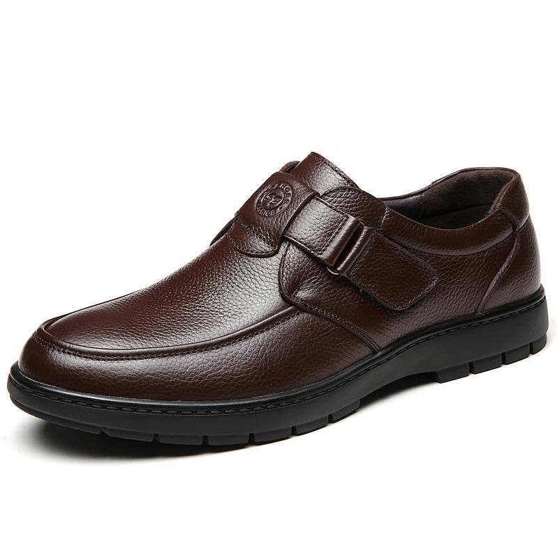 Giày da thời trang nam trung niên - Mã GC002 màu nâu