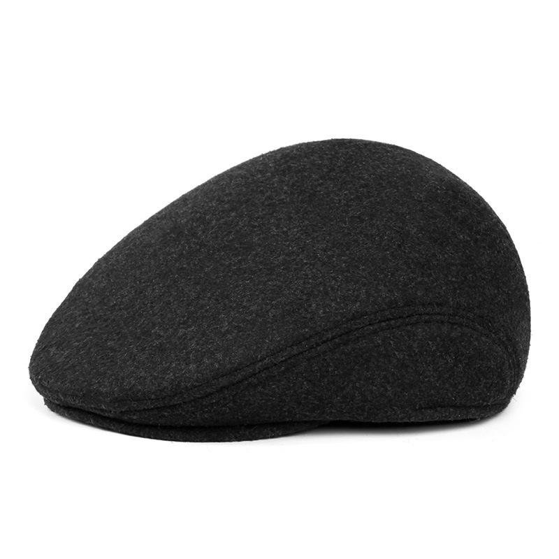 Mũ beret nam trung niên vải dạ, có bịt tai - mã M401