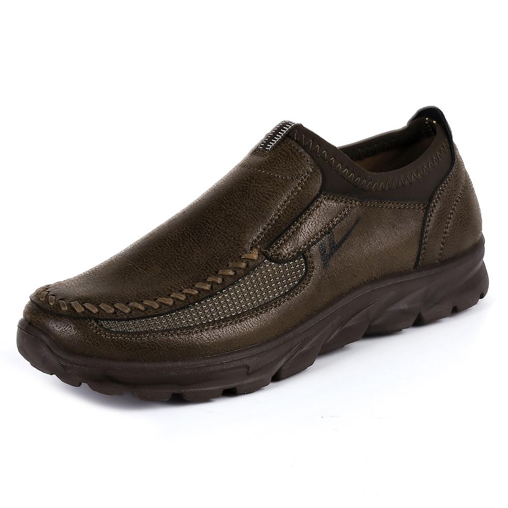 Giày lười da bò nam trung niên SM001