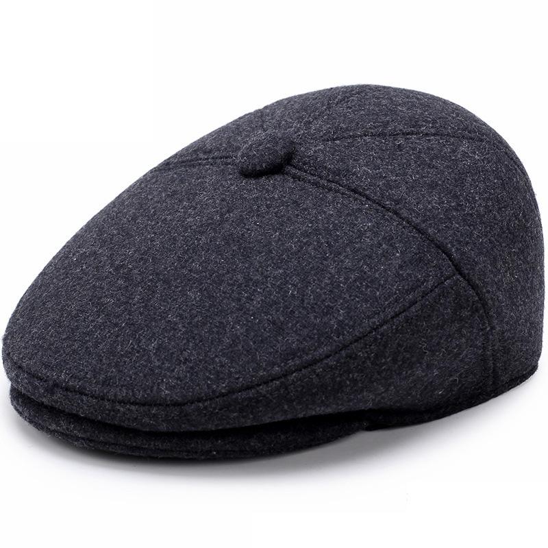 Mũ beret nam trung niên vải dạ, có bịt tai - mã M404
