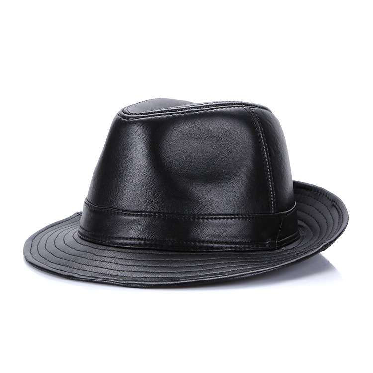 Mũ phớt nam trung niên da dê - Mã M701