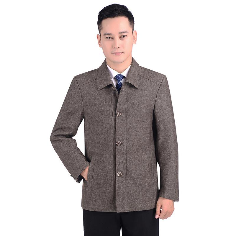 Áo khoác nam trung niên thu đông dáng vest QA013