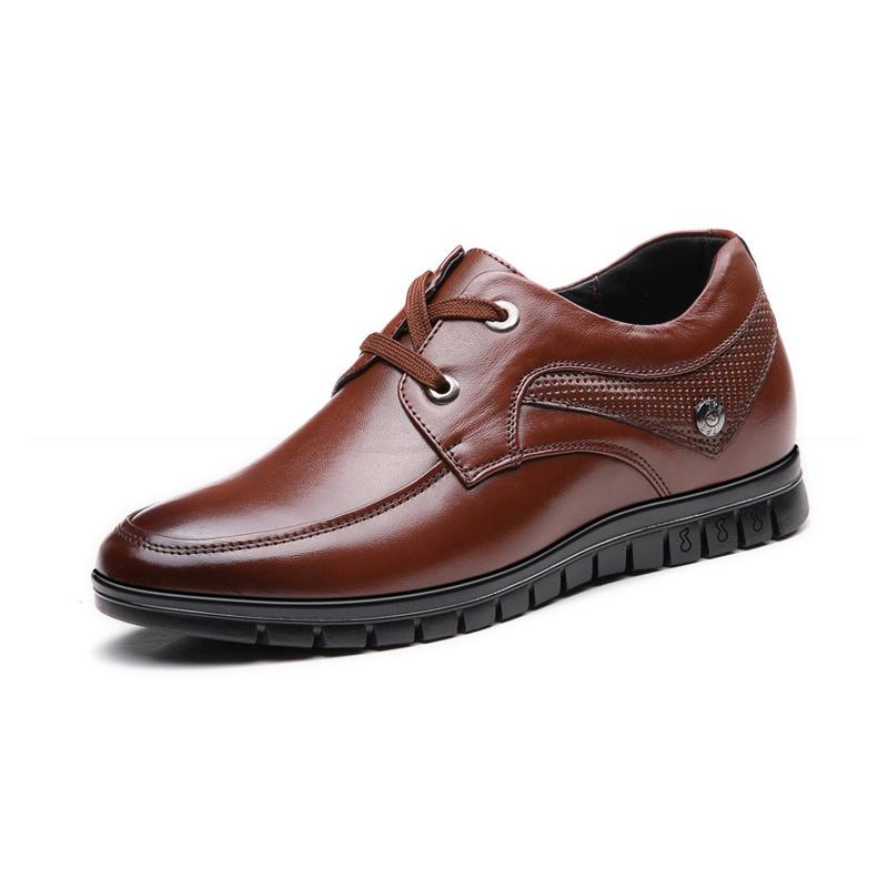 Giày da tăng chiều cao nam BT001 (6cm) - Nâu
