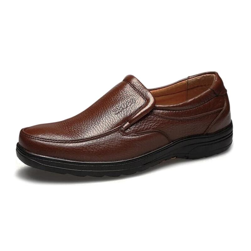 Giày lười nam da bò tấm dày 5mm DC001