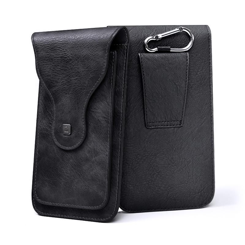 Bao da điện thoại đeo hông cao cấp AC001 - Màu đen