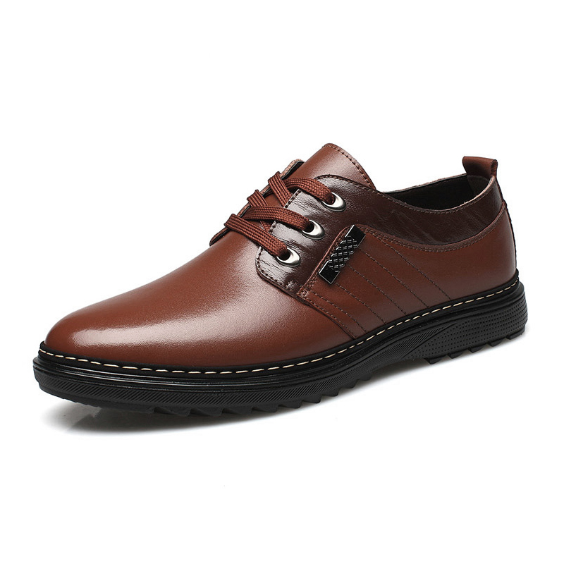 Giày da nam trung niên EN001 - Nâu