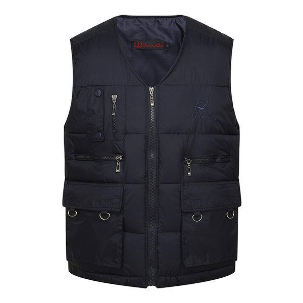 Áo khoác trung niên dáng trấn thủ lót bông CT05 - Màu đen
