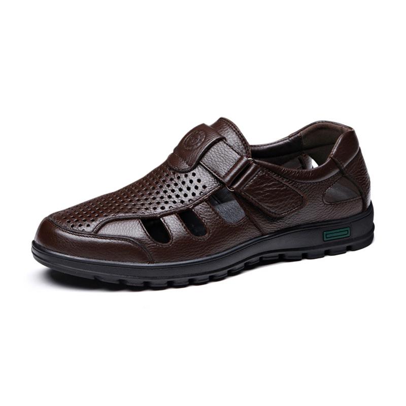 Giày, dép rọ da nam trung niên GC001 - rocco.vn