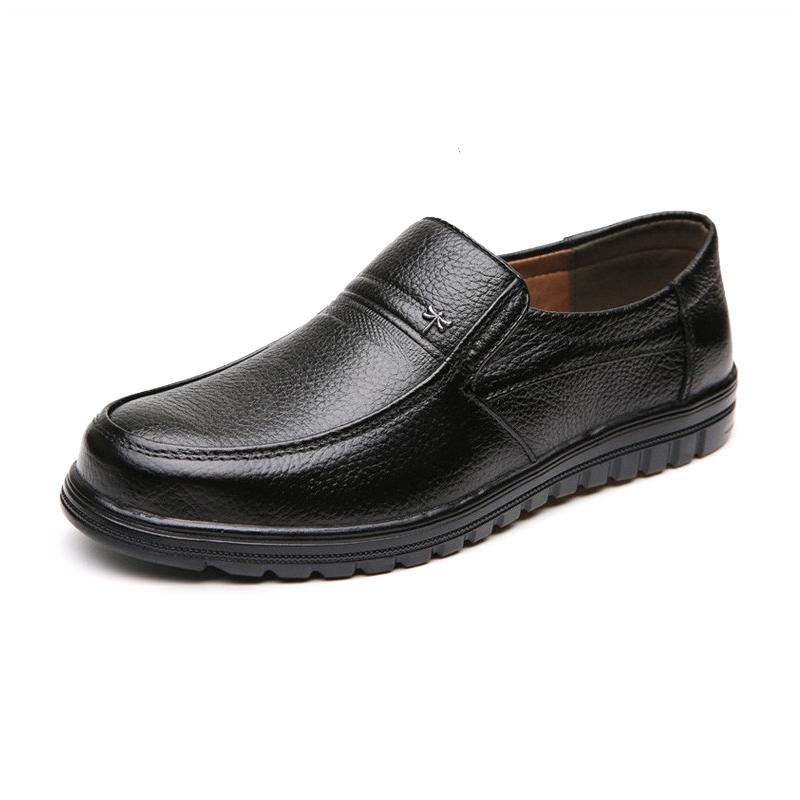 Giày lười nam trung niên, da thật GX001