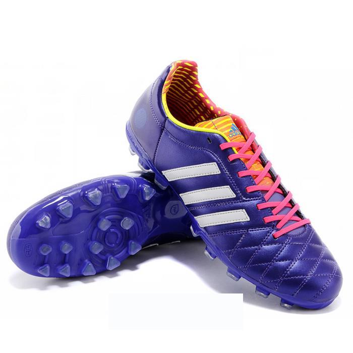 Giày đá bóng Adidas 11Pro Fake 1- AG Tím và trắng