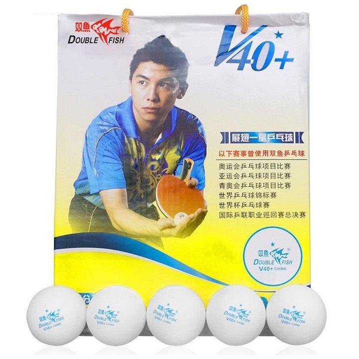 Quả bóng bàn Double Fish ( Song Ngư ) 40+ 1 sao hộp 100 quả