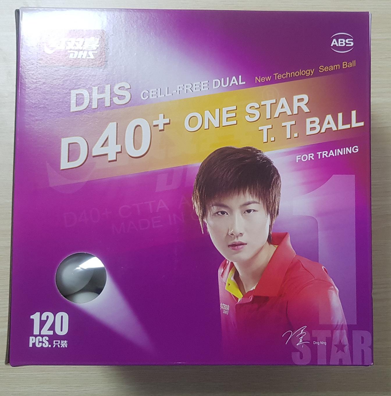 Quả bóng bàn DHS 40+ Cell Free Dual (Hộp 120 quả)