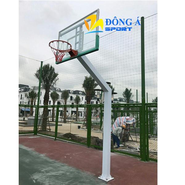 Trụ bóng rổ cố định bảng kính cường lực DA-03
