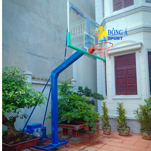 Trụ bóng rổ di động bảng kính cường lực DA-04