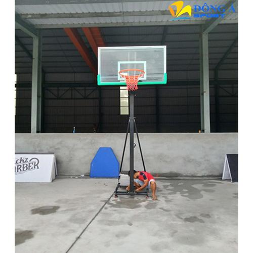 Trụ bóng rổ di động điều chỉnh độ cao bảng kính cường lực DA-09