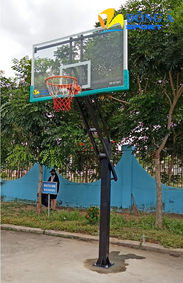 Trụ bóng rổ cố định bảng kính cường lực có điều chỉnh chiều cao DA-06