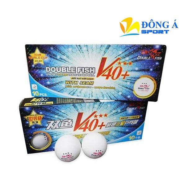Quả bóng bàn Double Fish V40+ 3 sao hộp 10 quả