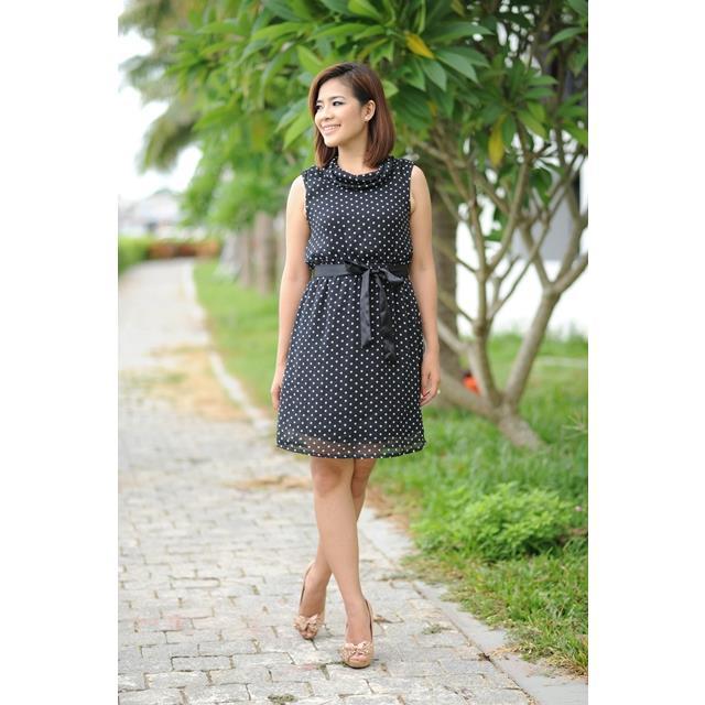 Đầm Voal Cổ Lọ Ko Tay DRCT0099-47