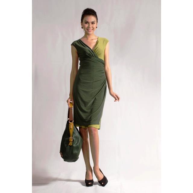 Đầm cổ tim dún eo DRCT0147A