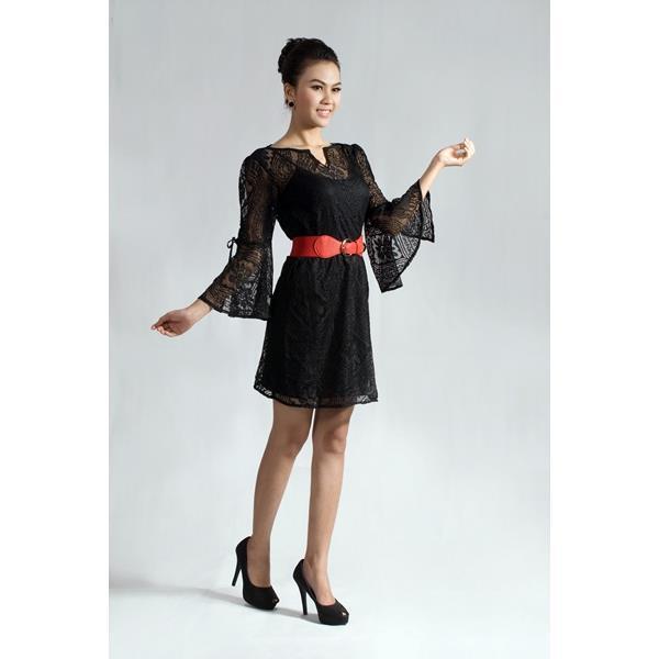 Đầm Công Sở - Ren Tay Loa DRTT0001_04