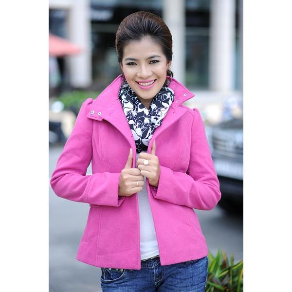 Áo khoác nữ Sensorial màu hồng tay dài AD0002