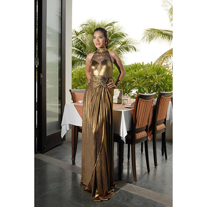 Đầm Dạ Hội Ren Ngực DRP0075-05