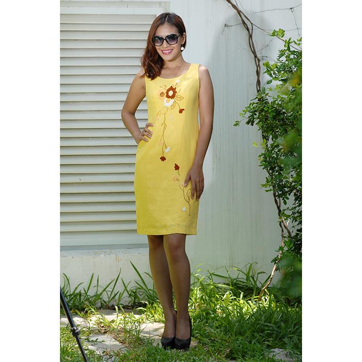 Đầm Linen Thêu Tay DRCT0085C-05