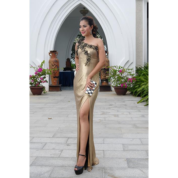 Đầm Dạ Hội Lá Hoa DRP0078-05
