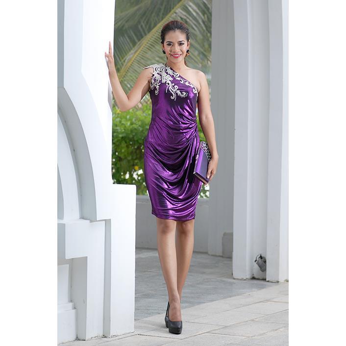 Đầm COCKTAIL Lệch Vai Kết Ren DRCK0014-13