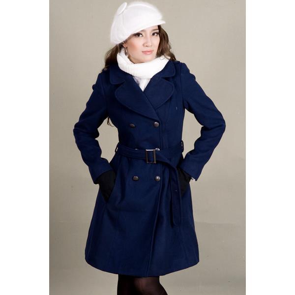 Áo khoác nữ Sensorial nẹp vai màu xanh lam