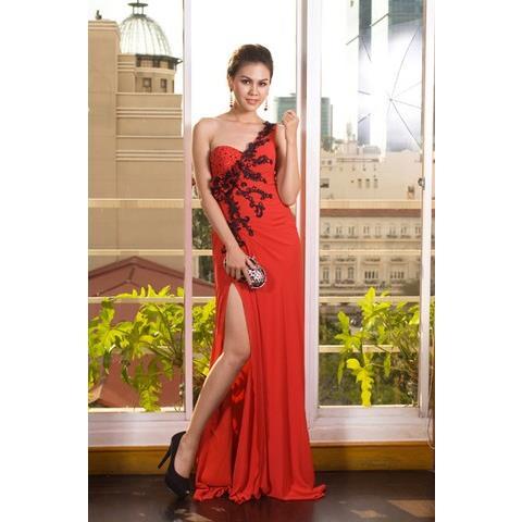 Đầm Dạ Tiệc Lệch Vai DRP0101-09