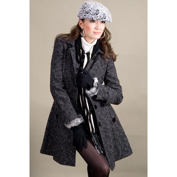 Áo khoác nữ Sensorial màu đen chấm bi AD0001S14