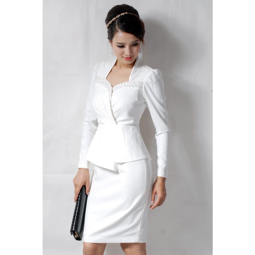 Đầm CS Cổ Nữ Hoàng Sensorial DRCK0030A-07