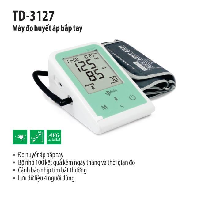 Máy đo huyết áp bắp tay tự động TD-3127