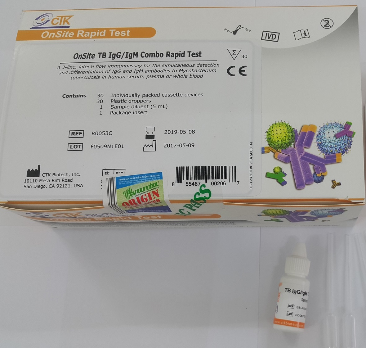 Test thử Onsite TB IgM/IgG Rapid Test