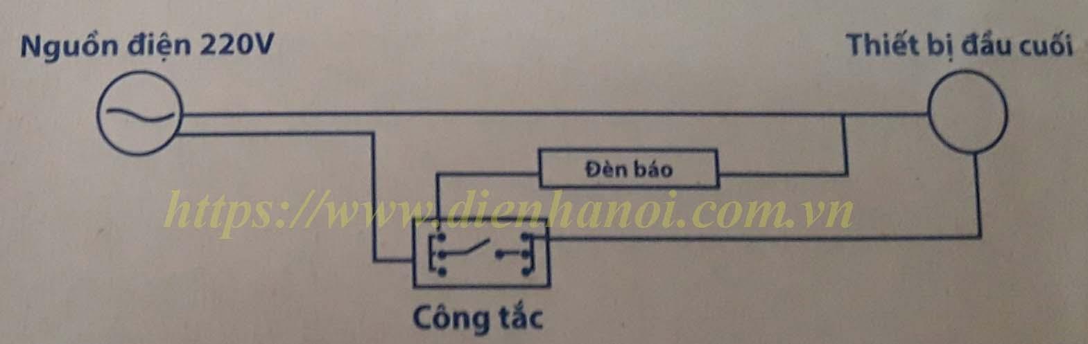 Sơ đồ đấu nối hạt đèn báo đỏ WIDE Panasonic