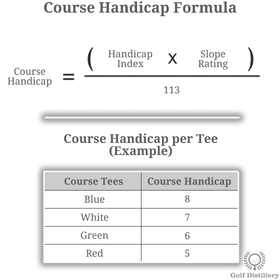 HANDICAP CARD - COURSE-SPECIFIC HANDICAP - HANDICAP STROKES