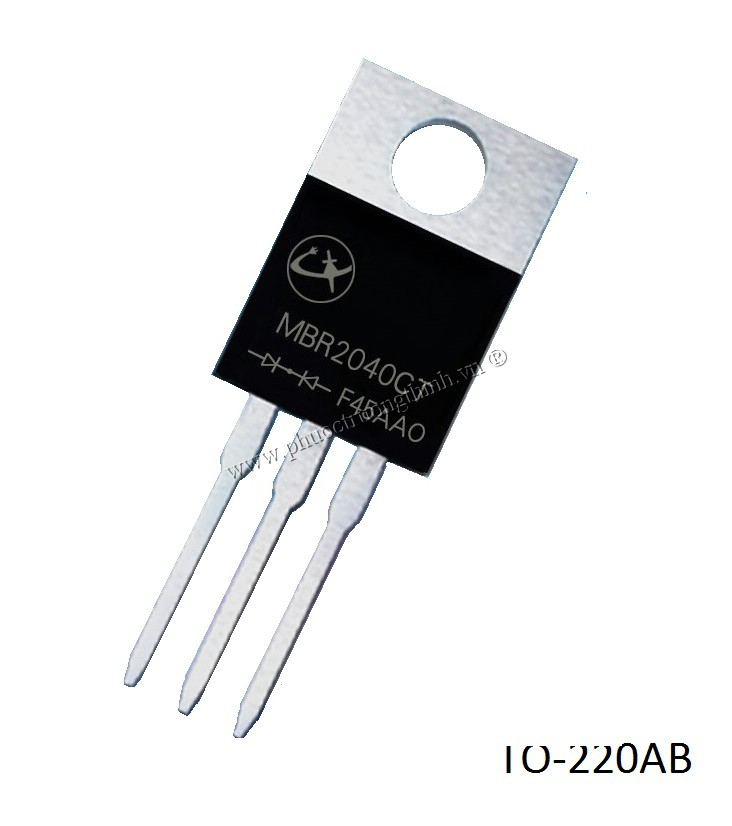 Schottky diode (Rectifier diode) MBR2040CT 20A 40V TO-220AB