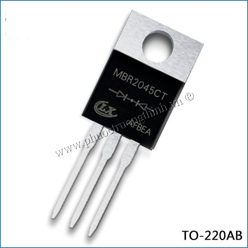 Schottky diode (Rectifier diode) MBR2045CT 20A 45V TO-220AB